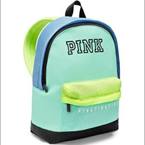 VS PINK SHOW OFF COLOR BLOCK MINI BACKPACK NWT